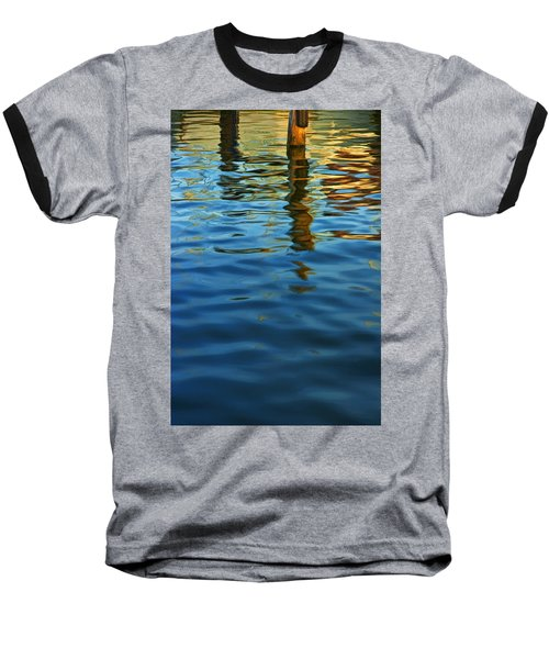 Light Reflections On The Water By A Dock At Aransas Pass Baseball T-Shirt