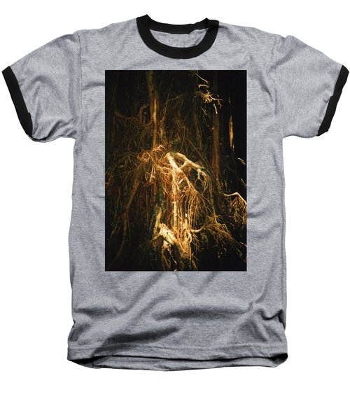 Baseball T-Shirt featuring the photograph Light Roots by Evelyn Tambour