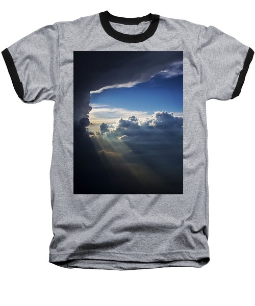 Light Shafts From Thunderstorm II Baseball T-Shirt