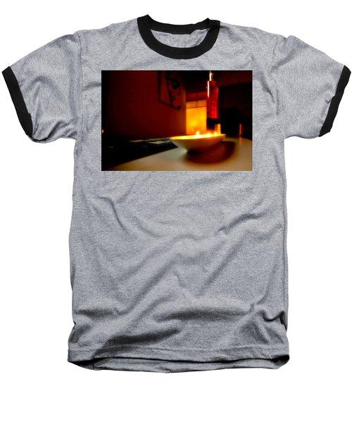 Light The Bottle Baseball T-Shirt by Melinda Ledsome