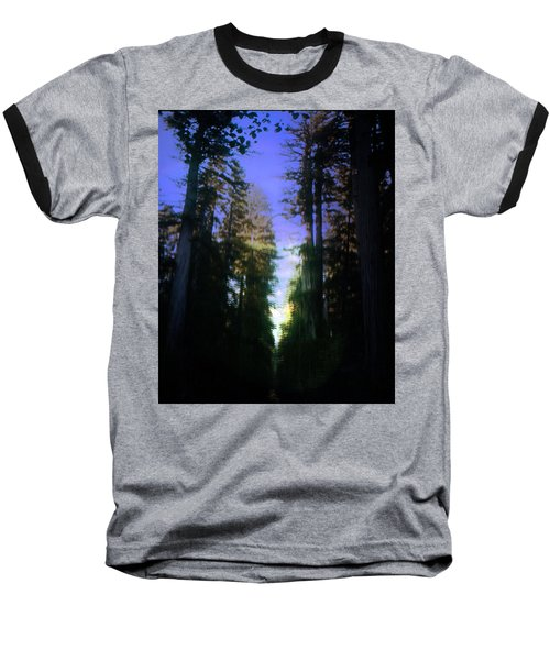 Baseball T-Shirt featuring the digital art Light Through The Forest by Cathy Anderson