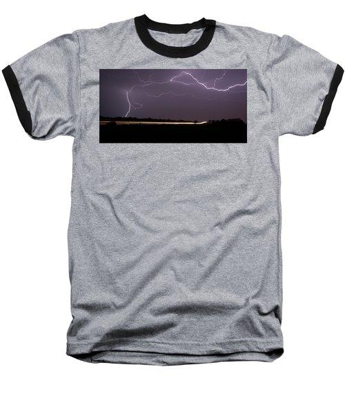 Baseball T-Shirt featuring the photograph Lightening Bolts by Charles Beeler