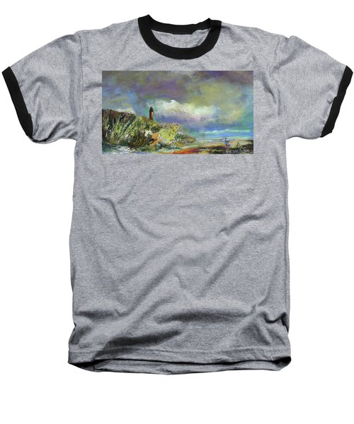 Lighthouse And Fisherman Baseball T-Shirt