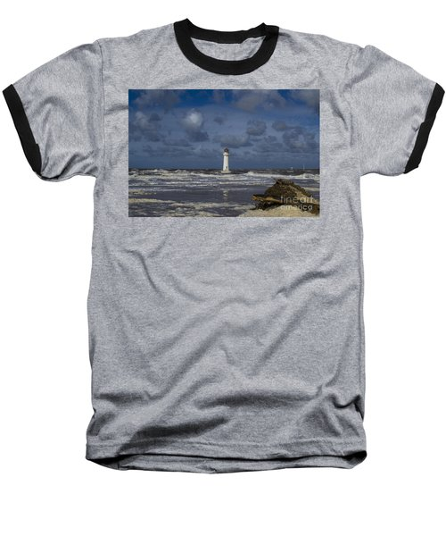 lighthouse at New Brighton Baseball T-Shirt by Spikey Mouse Photography