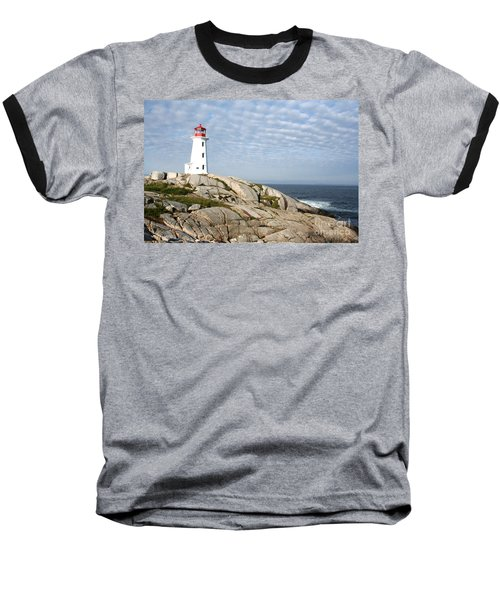 Lighthouse At Peggys Point Nova Scotia Baseball T-Shirt