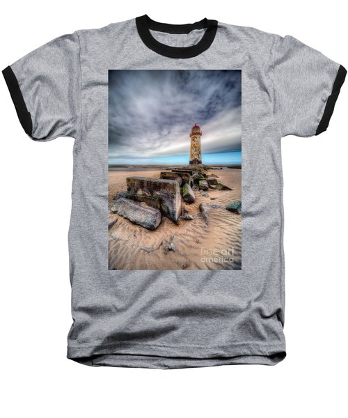 Lighthouse At Talacre  Baseball T-Shirt by Adrian Evans
