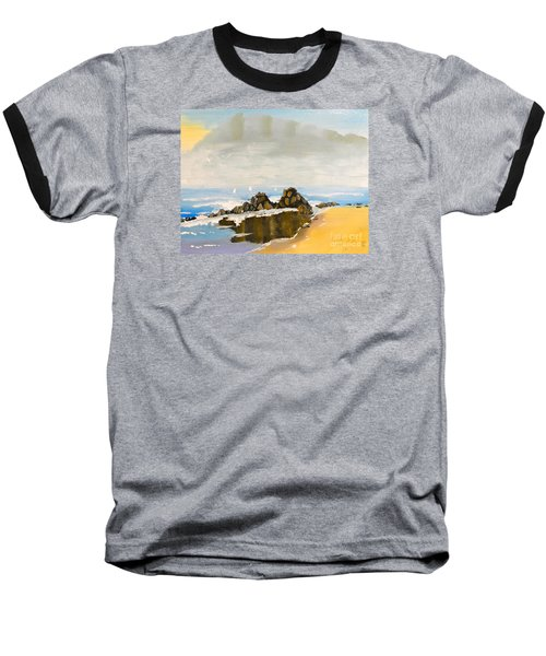 Lighthouse Beach Baseball T-Shirt