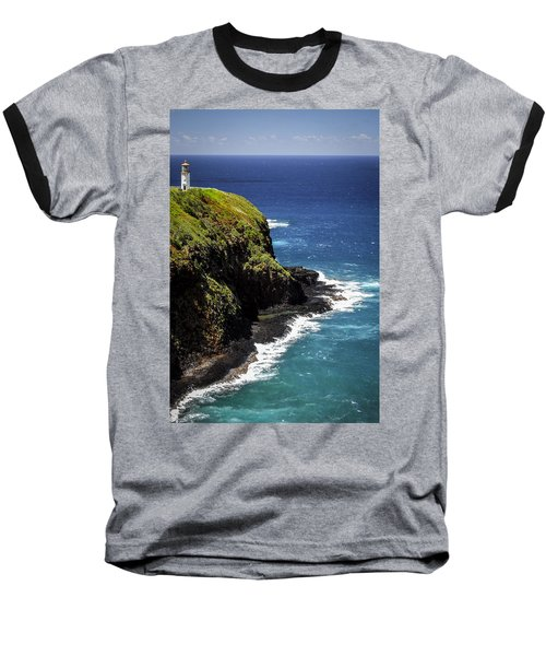 Baseball T-Shirt featuring the photograph Lighthouse By The Pacific by Debbie Karnes