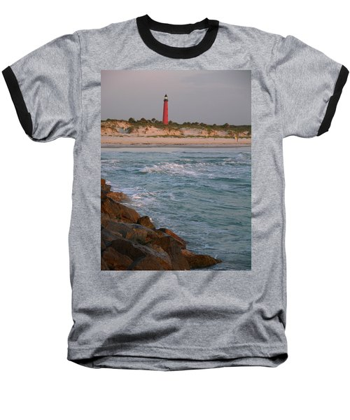 Lighthouse From The Jetty 2 Baseball T-Shirt