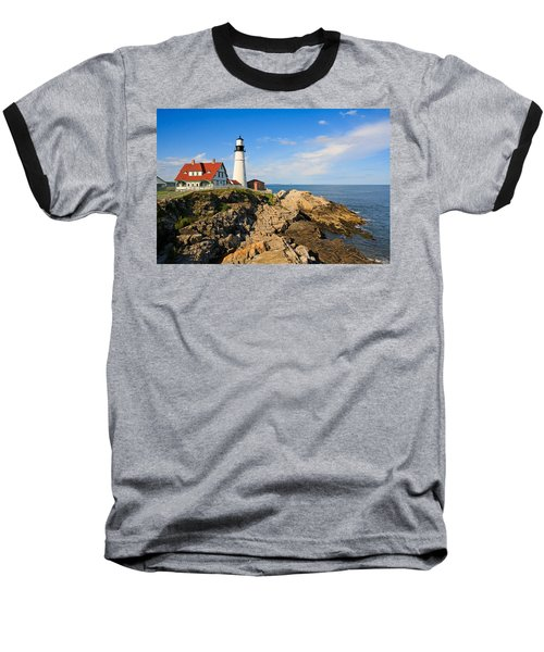 Lighthouse In The Sun Baseball T-Shirt