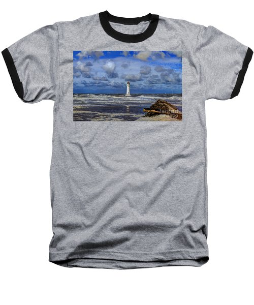 Lighthouse Baseball T-Shirt by Spikey Mouse Photography