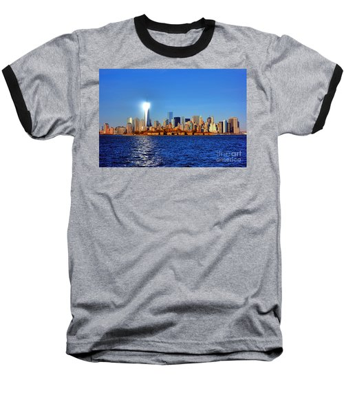 Lighthouse Manhattan Baseball T-Shirt
