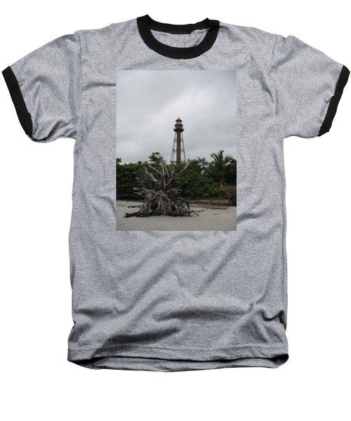 Lighthouse On Sanibel Island Baseball T-Shirt by Christiane Schulze Art And Photography