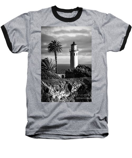 Baseball T-Shirt featuring the photograph Lighthouse On The Bluff by Jerry Cowart