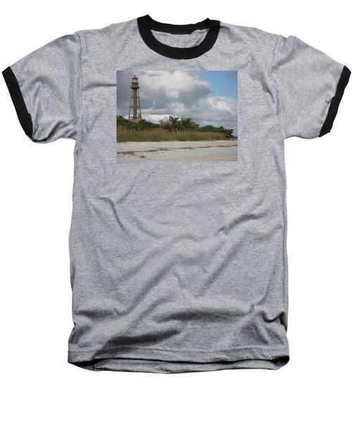 Sanibel Island Light Baseball T-Shirt by Christiane Schulze Art And Photography