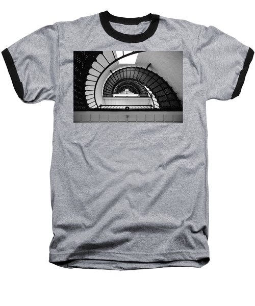 Lighthouse Spiral Baseball T-Shirt