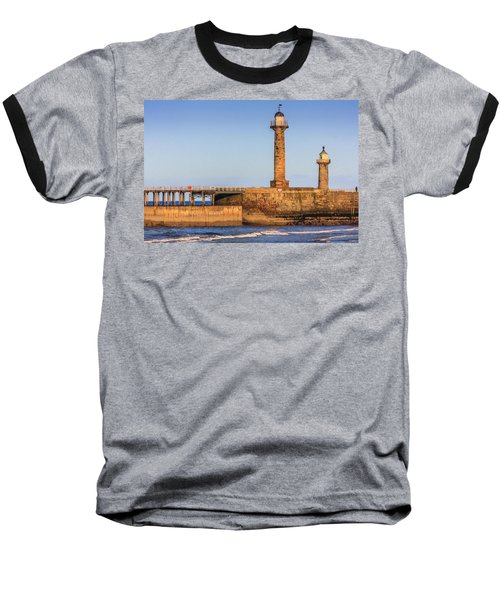 Lighthouses On The Piers Baseball T-Shirt
