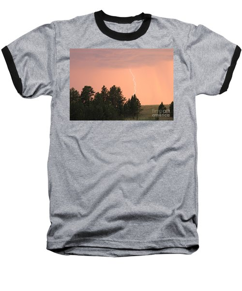Lighting Strikes In Custer State Park Baseball T-Shirt