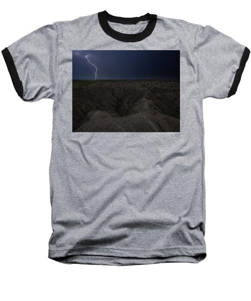 Lightning Crashes Baseball T-Shirt