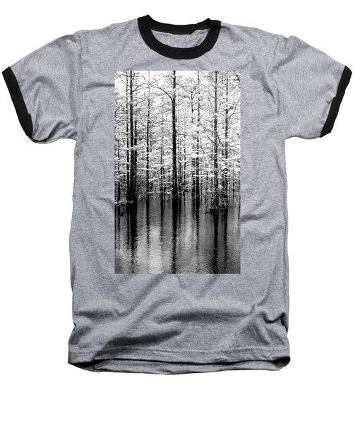 Lightning On The Wetlands Baseball T-Shirt by Faith Williams