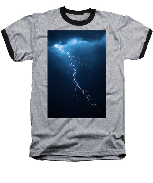 Lightning With Cloudscape Baseball T-Shirt