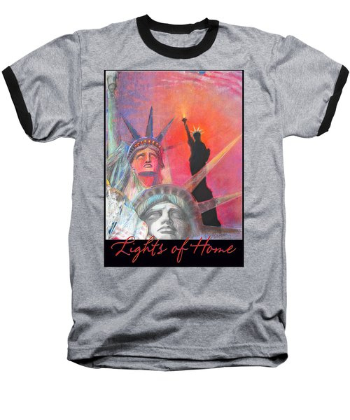 Lights Of Home - Pastel-mixed Media - Artwork Baseball T-Shirt