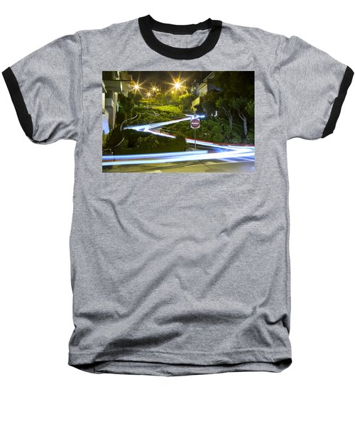 Lights On Lombard Baseball T-Shirt