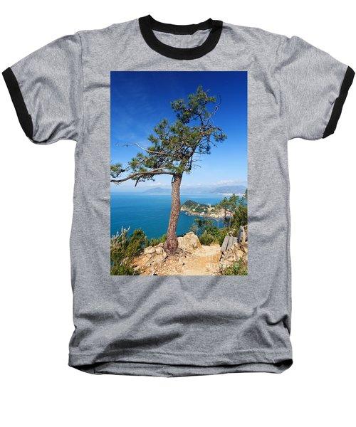 Baseball T-Shirt featuring the photograph Liguria - Tigullio Gulf by Antonio Scarpi