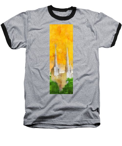 Like A Fire Is Burning - Panoramic Baseball T-Shirt by Greg Collins