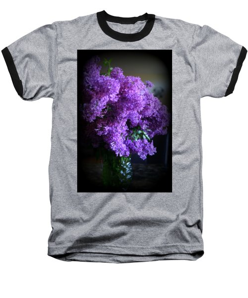 Lilac Bouquet Baseball T-Shirt by Kay Novy