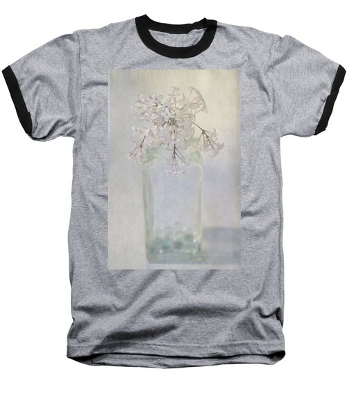 Lilac Flower Baseball T-Shirt