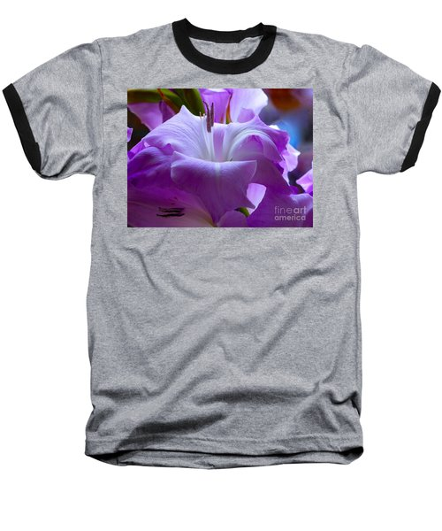 Lilac Flower Baseball T-Shirt