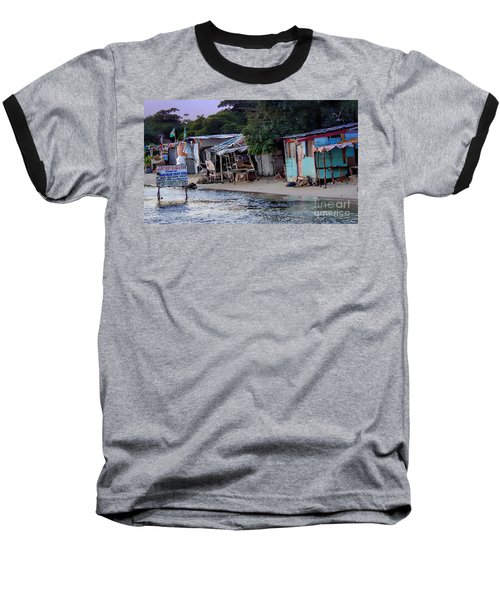 Liliput Craft Village And Bar Baseball T-Shirt