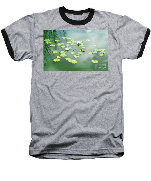 Baseball T-Shirt featuring the photograph Lilly Pads by Erika Weber