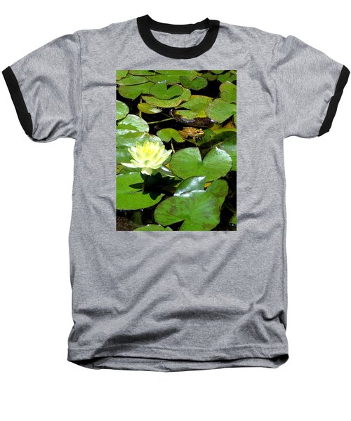 Lily And Amphibian Friend Baseball T-Shirt
