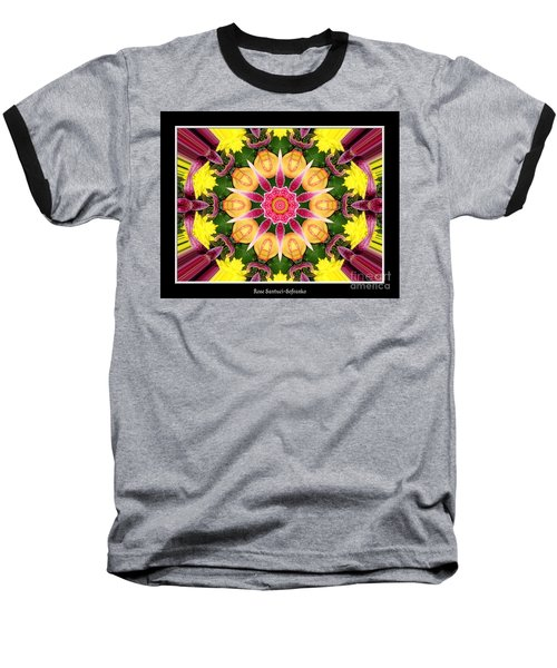 Baseball T-Shirt featuring the photograph Lily And Chrysanthemums Flower Kaleidoscope by Rose Santuci-Sofranko