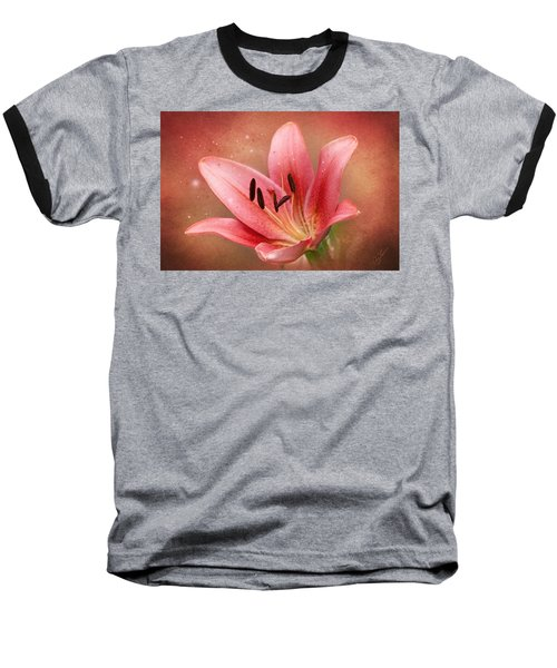 Baseball T-Shirt featuring the photograph Lily by Ann Lauwers