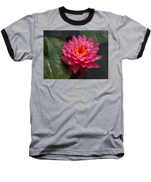 Lily Flower In Bloom Baseball T-Shirt by Michael Porchik