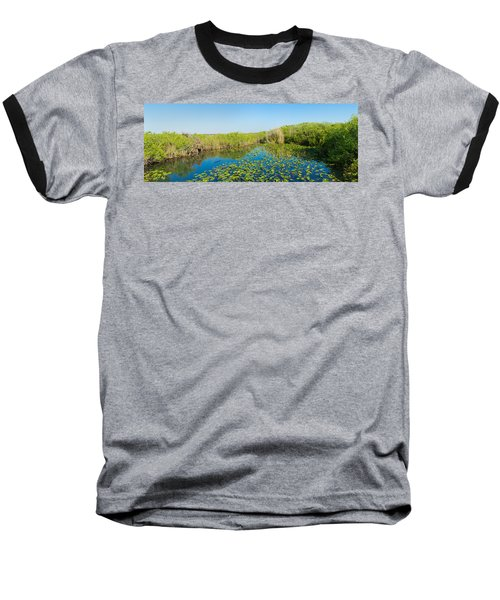 Lily Pads In The Lake, Anhinga Trail Baseball T-Shirt