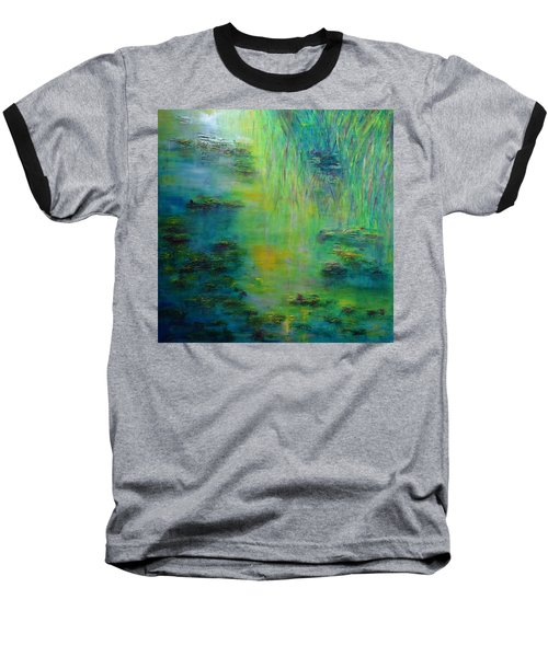 Lily Pond Tribute To Monet Baseball T-Shirt