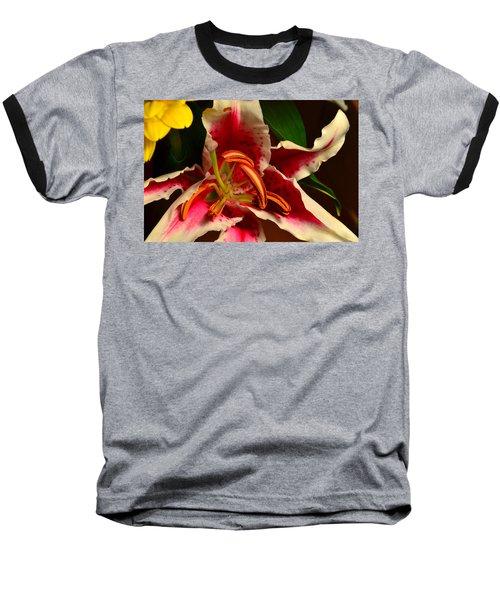 Lily Rose Flower 2 Baseball T-Shirt