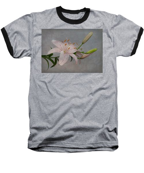Baseball T-Shirt featuring the photograph Pink Lily With Texture by Patti Deters