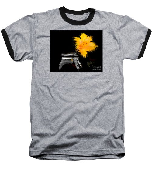 Lily Yellow Baseball T-Shirt by Chris Fraser