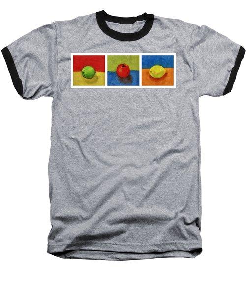 Lime Apple Lemon Baseball T-Shirt