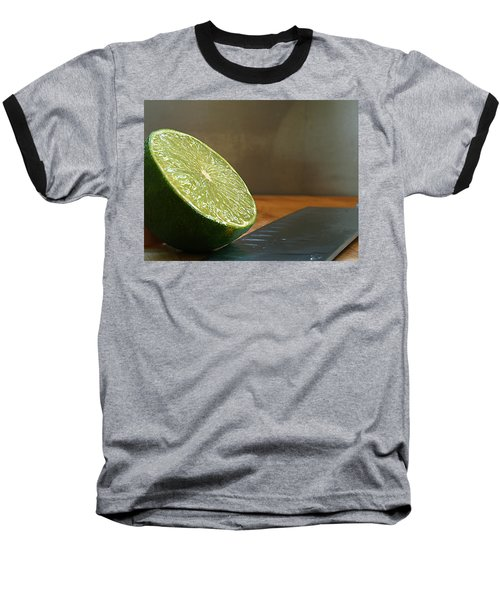 Lime Blade Baseball T-Shirt by Joe Schofield