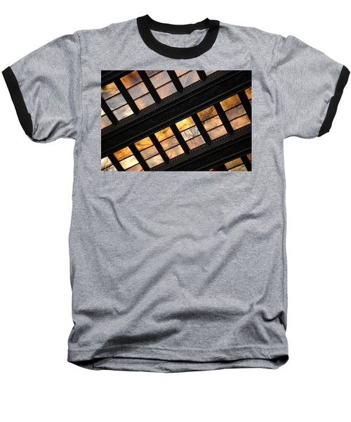 Lincoln Memorial Stained Glass Baseball T-Shirt