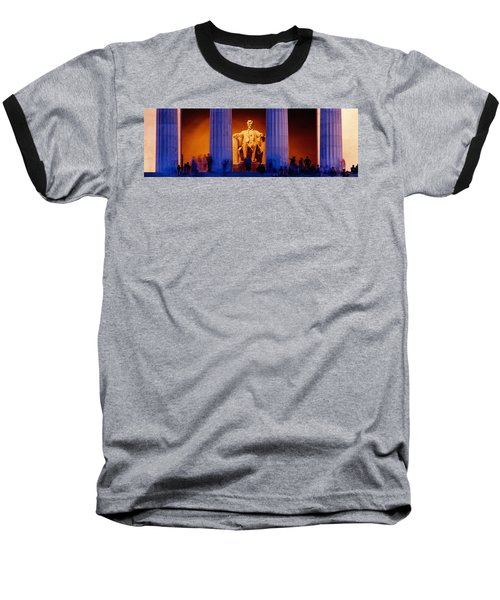 Lincoln Memorial, Washington Dc Baseball T-Shirt by Panoramic Images