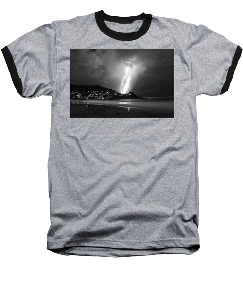 Linda Mar Lightning Baseball T-Shirt