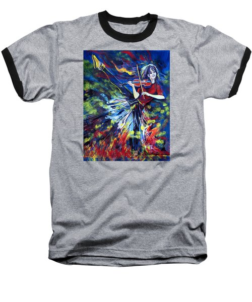 Lindsey Stirling. Dancing Violinist Baseball T-Shirt by Anna  Duyunova