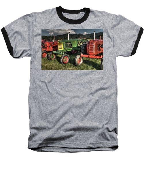 Lined Up Baseball T-Shirt by Michael Eingle